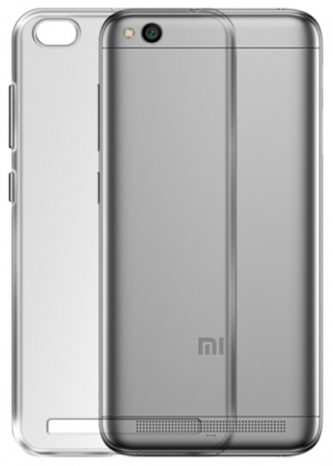 Чехол для Xiaomi Redmi 5a силиконовый, цвет: прозрачный