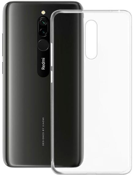 Чехол для Xiaomi Redmi 8 силиконовый, цвет: прозрачный