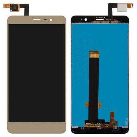 Экран для Xiaomi Redmi Note 3 с тачскрином, цвет: золотой
