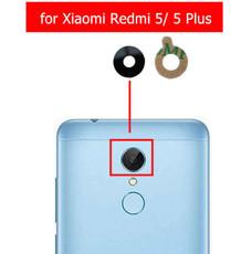 Стекло задней камеры для Xiaomi Redmi 5, Redmi 5 Plus, цвет: черный