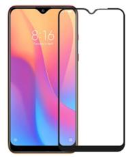 Защитное стекло для Xiaomi Redmi 8, Redmi 8A 3D (проклейка по контуру) цвет: черный