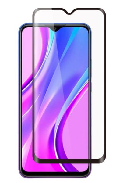 Защитное стекло для Xiaomi Redmi 9, 5D (полная проклейка), цвет: черный