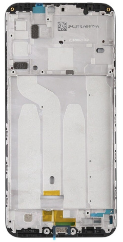 Средняя часть (рамка) для Xiaomi Redmi 6, Redmi 6A, цвет: черный
