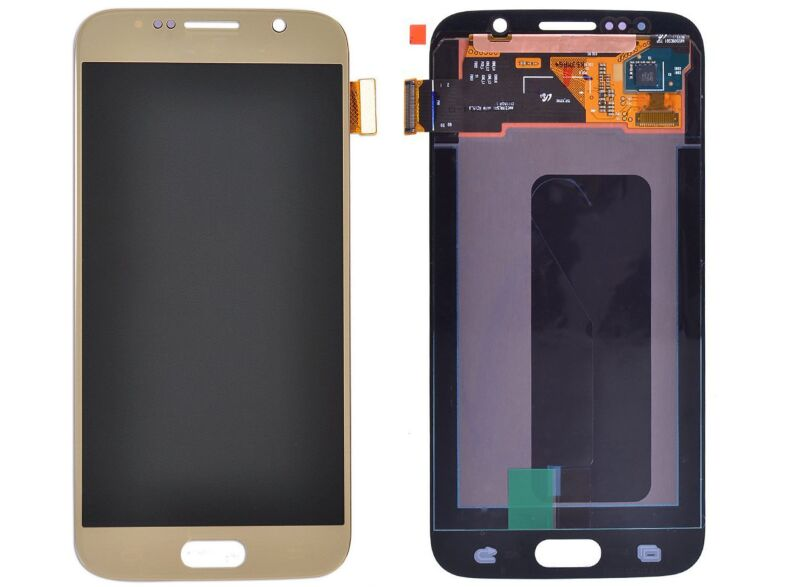 Экран для Samsung Galaxy S6 (G920F) с тачскрином, цвет: золотой оригинальный