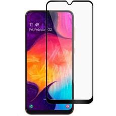 Защитное стекло для Samsung Galaxy A10 (SM-A105) 5D (проклейка по контуру), цвет: черный