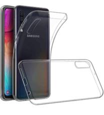 Чехол для Samsung Galaxy A70 силиконовый, цвет: прозрачный