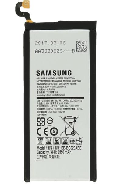 Аккумулятор для Samsung Galaxy S6 SM-G920F (EB-BG920ABE) оригинальный