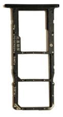 Sim-слот (сим-лоток) для Huawei Y6 2018, цвет: черный