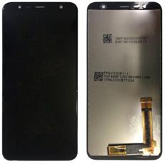 Экран для Samsung Galaxy J4 Plus с тачскрином, цвет: черный,переклейка