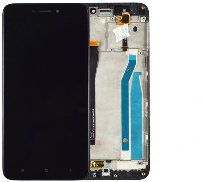 Экран для Xiaomi Redmi 3 с тачскрином, цвет: черный, оригинальный с рамкой