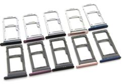 Sim-слот (сим-лоток) для Samsung Galaxy S9 Dual, цвет: черный