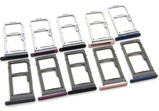 Sim-слот (сим-лоток) для Samsung Galaxy S9 Dual, цвет: фиолетовый