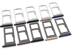 Sim-слот (сим-лоток) для Samsung Galaxy S9 Dual, цвет: синий