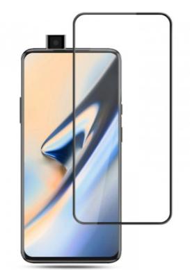Защитное стекло для OnePlus 7T Pro 3D (проклейка по контуру), цвет: черный