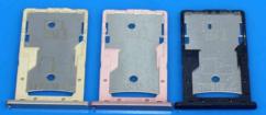 Sim-слот (сим-лоток) для Xiaomi Redmi 4a, цвет: черный