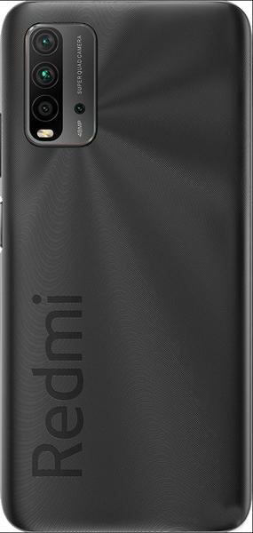 Задняя крышка (корпус) для Xiaomi Redmi 9T, цвет: черный