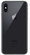 Задняя крышка для Apple iPhone XS, цвет: серый космос