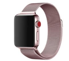 Металлический ремешок для Apple Watch 42/44 мм, цвет: розовое золото