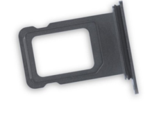 Sim-слот (сим-лоток) для iPhone XS, цвет: черный
