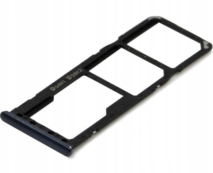 Sim-слот (сим-лоток) для Samsung Galaxy A10, A20, A30, A50, A70, цвет: черный