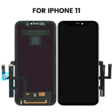 Экран для Apple iPhone 11 с тачскрином, цвет: черный