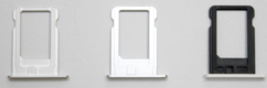 Sim-слот (сим-лоток) для iPhone 5s, цвет: черный