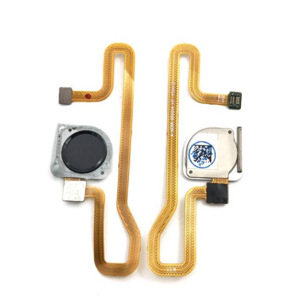 Шлейф для Huawei Y6 2018 в сборе со сканером отпечатком пальцев, цвет: черный