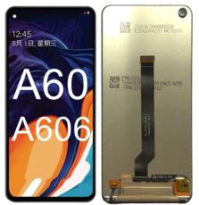 Экран для Samsung Galaxy A60 (SM-A606F) с тачскрином, цвет: черный