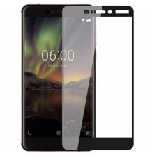 Защитное стекло для Nokia 6.1 2018 5D (полная проклейка) цвет: черный