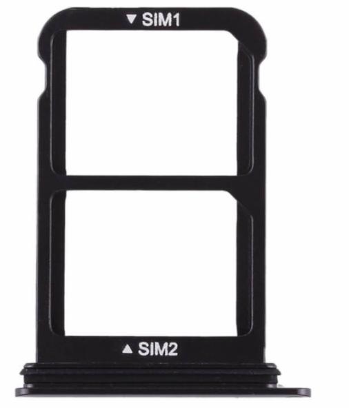 Sim-слот (сим-лоток) для Huawei P20 Pro, цвет: черный