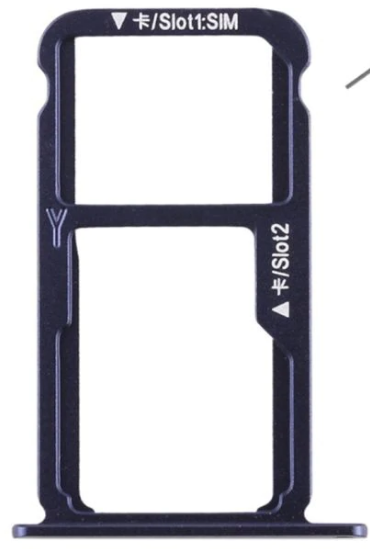 Sim-слот (сим-лоток) для Huawei Honor 9 lite, цвет: синий