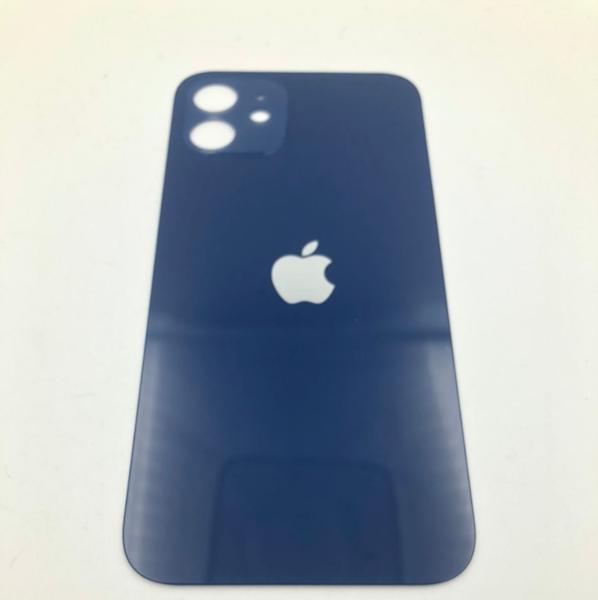 Задняя крышка (стекло) для Apple iPhone 12, цвет: синий