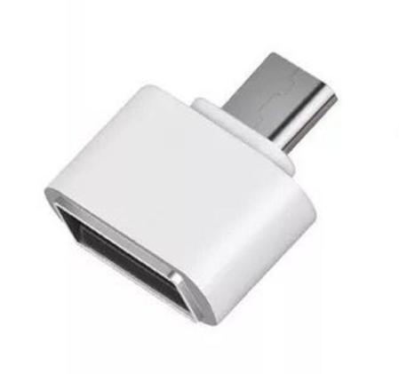 Переходник (адаптер) USB to Type-C OTG, цвет: белый