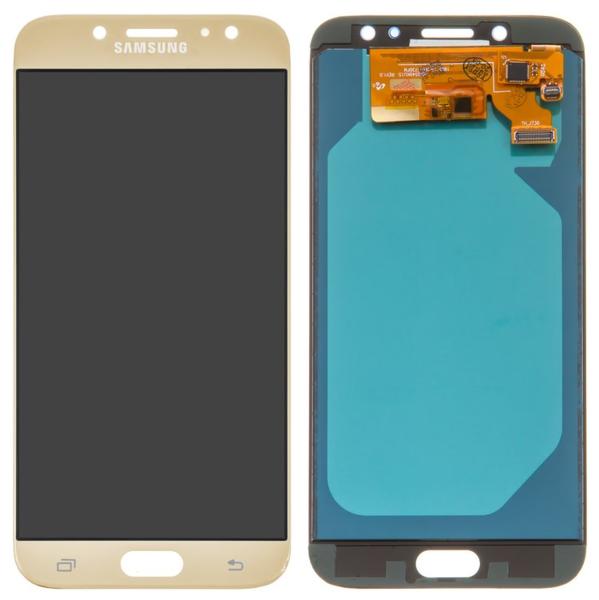 Экран для Samsung Galaxy J7 Pro J730 с тачскрином, цвет: золотой, oled