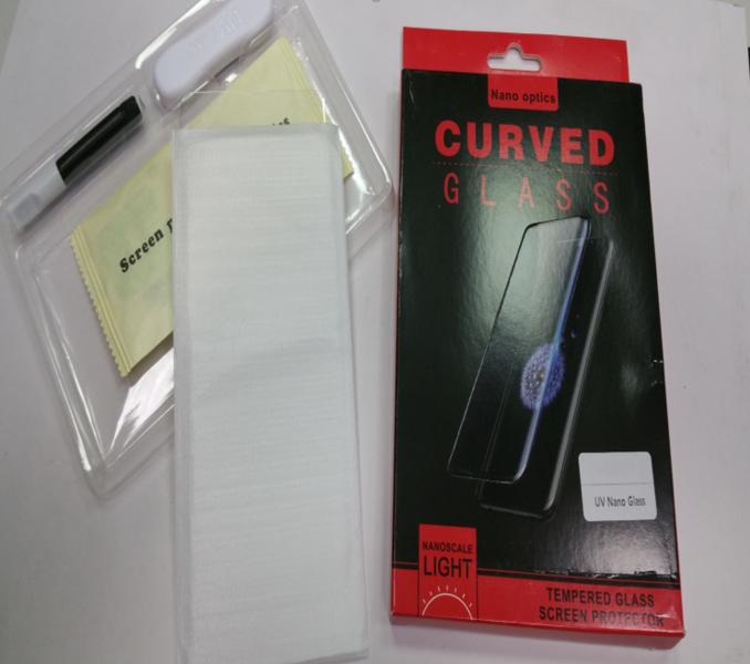 Защитное стекло для Huawei P30, цвет: прозрачный с фотополимерным клеем и УФ-лампой