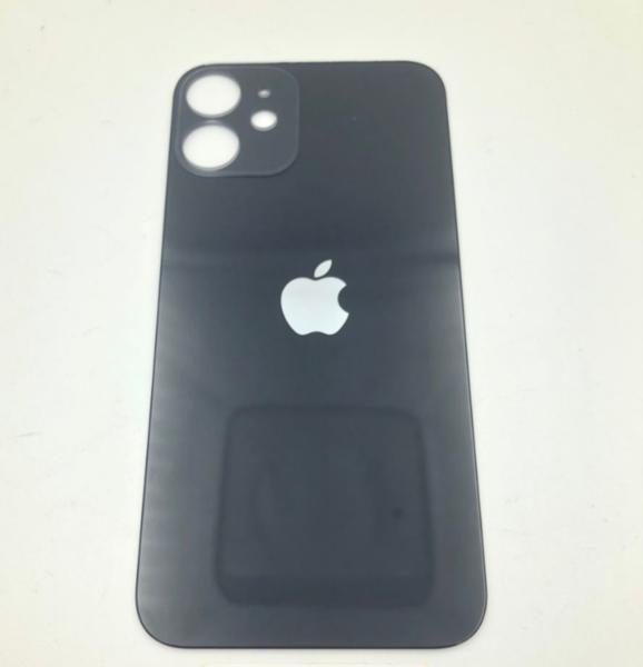 Задняя крышка (стекло) для Apple iPhone 12 mini, цвет: черный