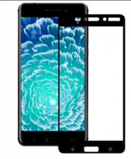 Защитное стекло для Nokia 6 5D (полная проклейка) цвет: черный