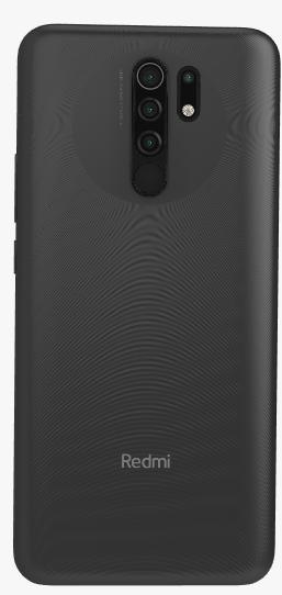 Задняя крышка (корпус) для Xiaomi Redmi 9, цвет: черный
