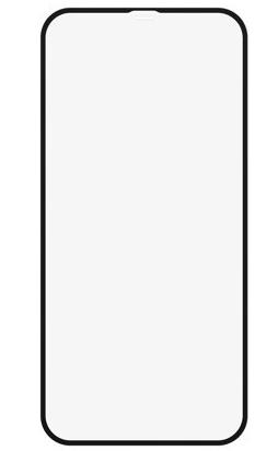 Защитное стекло для Apple iPhone 12 5D (полная проклейка), цвет: черный