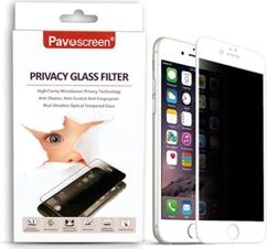 Антишпионское защитное стекло для Apple iPhone 6 plus 5D (полная проклейка), цвет: белый