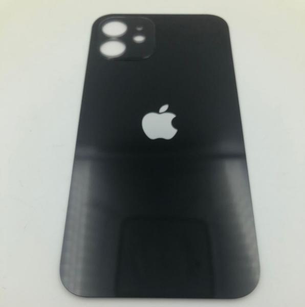 Задняя крышка (стекло) для Apple iPhone 12, цвет: черный
