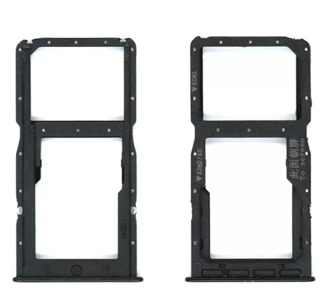 Sim-слот (сим-лоток) для Huawei P30 lite, цвет: черный