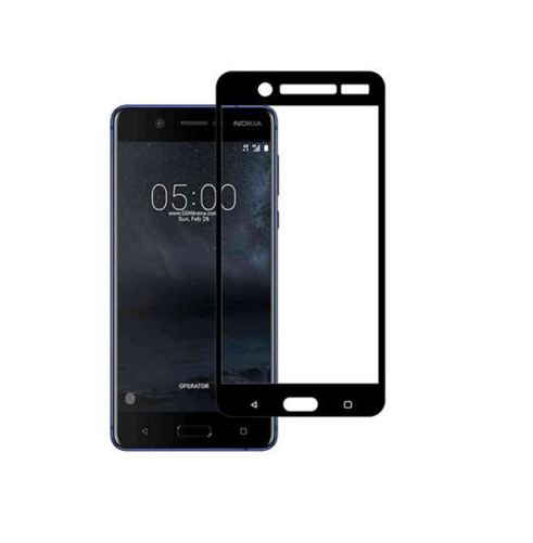 Защитное стекло для Nokia 5 5D (полная проклейка) цвет: черный
