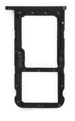 Sim-слот (сим-лоток) для Huawei Nova 3e, цвет: черный