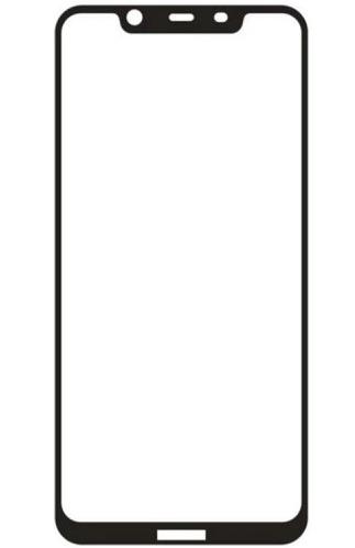 Защитное стекло для Nokia 8.1 5D (полная проклейка), цвет: черный