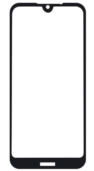 Защитное стекло для Nokia 5.3 5D (полная проклейка), цвет: черный