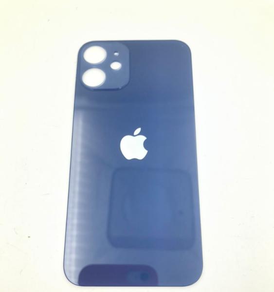 Задняя крышка (стекло) для Apple iPhone 12 mini, цвет: синий