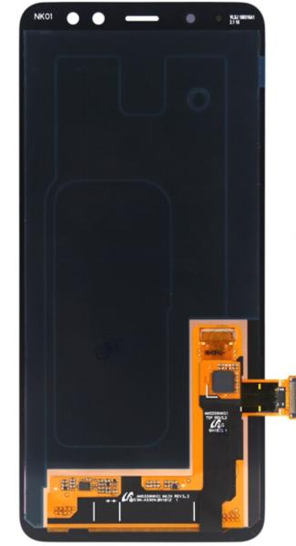 Экран для Samsung Galaxy A8 2015 A800 с тачскрином, цвет: черный, оригинальный