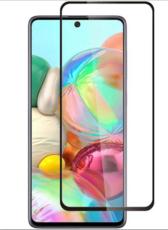 Защитное стекло для Samsung Galaxy A71 (SM-A715F) 5D (полная проклейка), цвет: черный