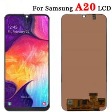 Экран для Samsung Galaxy A20 (A205FD) с тачскрином, цвет: черный, оригинальный